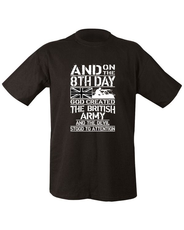 8th Day T Shirt Black