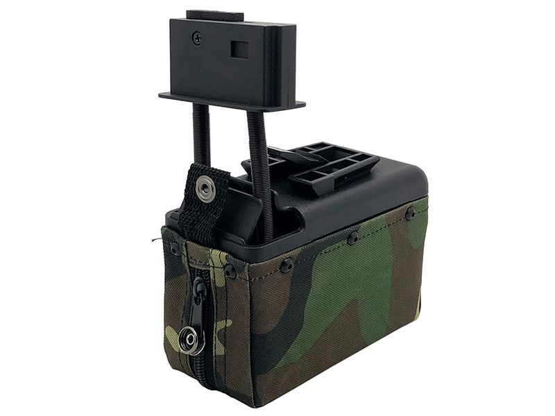 A&K M249 BOX MAG WOODLAND CAMO  OUT OF STOCK