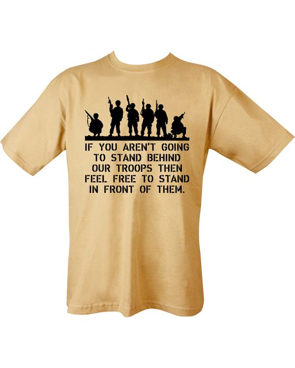 Behind Troops T-shirt - Sand
