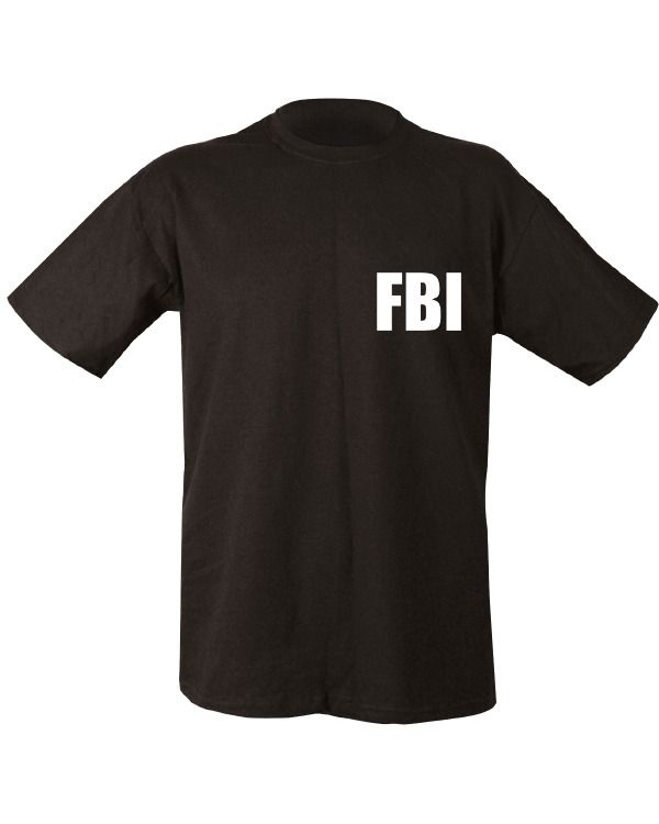FBI Double Print T-shirt - Black