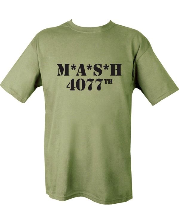 MASH 4077th T-shirt - Olive Green