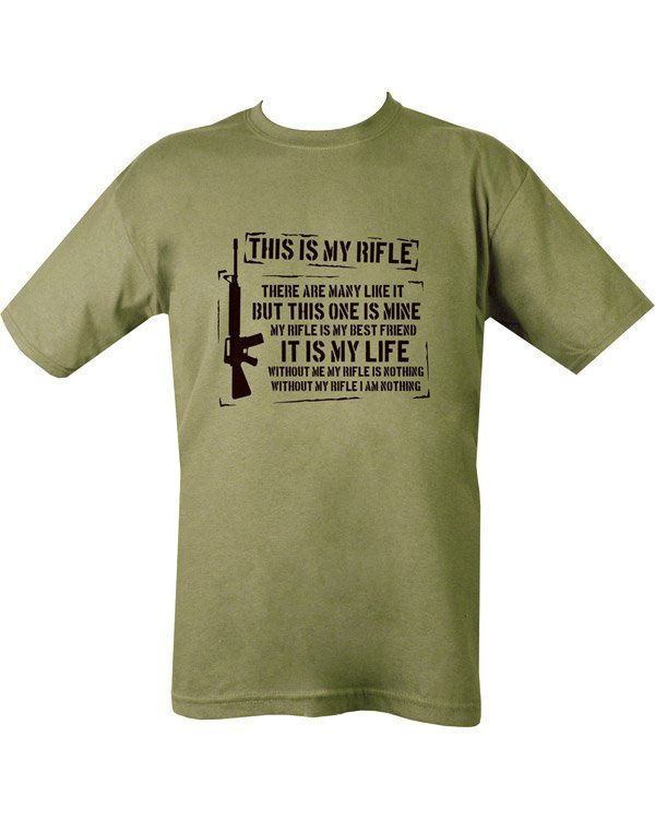 This Is My Rifle T-shirt - Olive Green