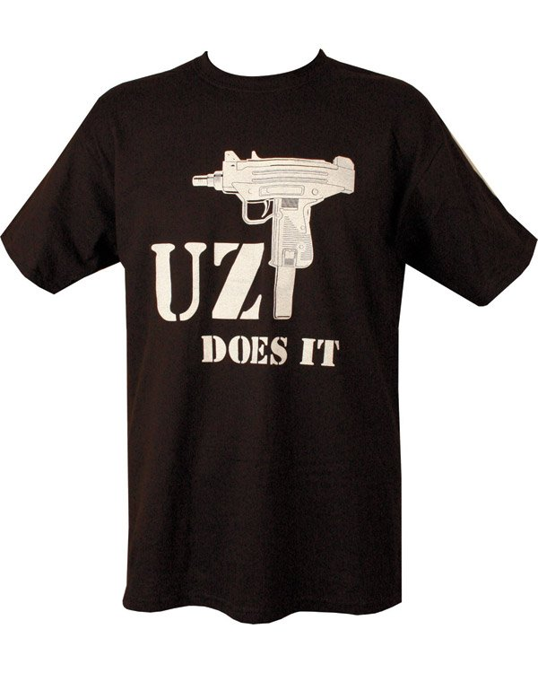Uzi Does It T-shirt - Black