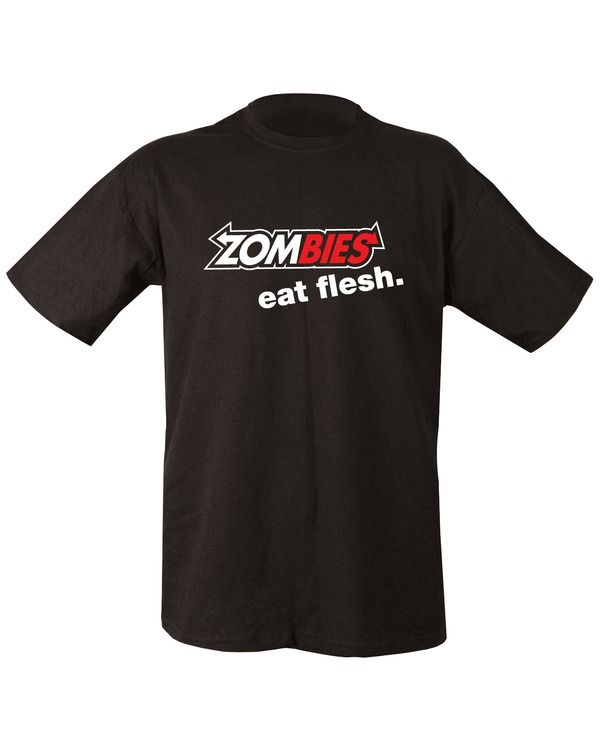 Zombies Eat Flesh T-shirt - Black